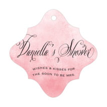Watercolor Clouds fancy diamond hang tags