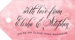 Watercolor Clouds luggage tags