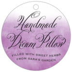 Watercolor Clouds circle hang tags