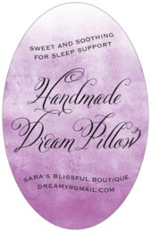 Watercolor Clouds tall oval labels