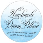Watercolor Clouds circle labels