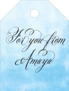 Watercolor Clouds small luggage tags