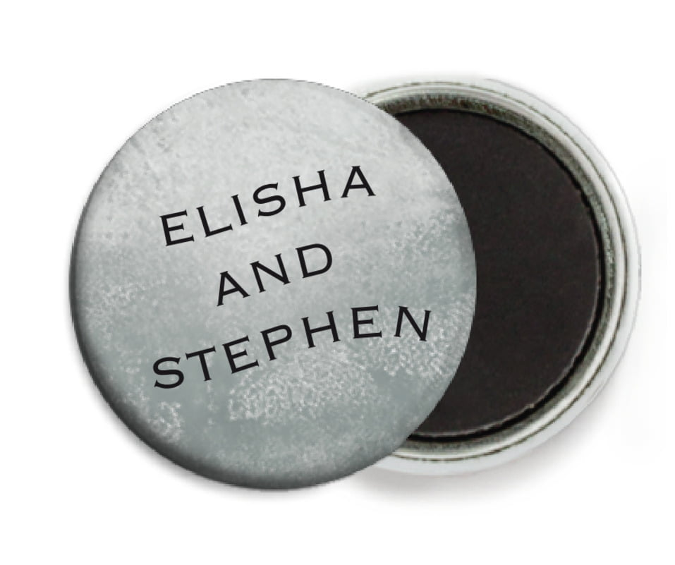 custom button magnets - charcoal - watercolor clouds (set of 6)
