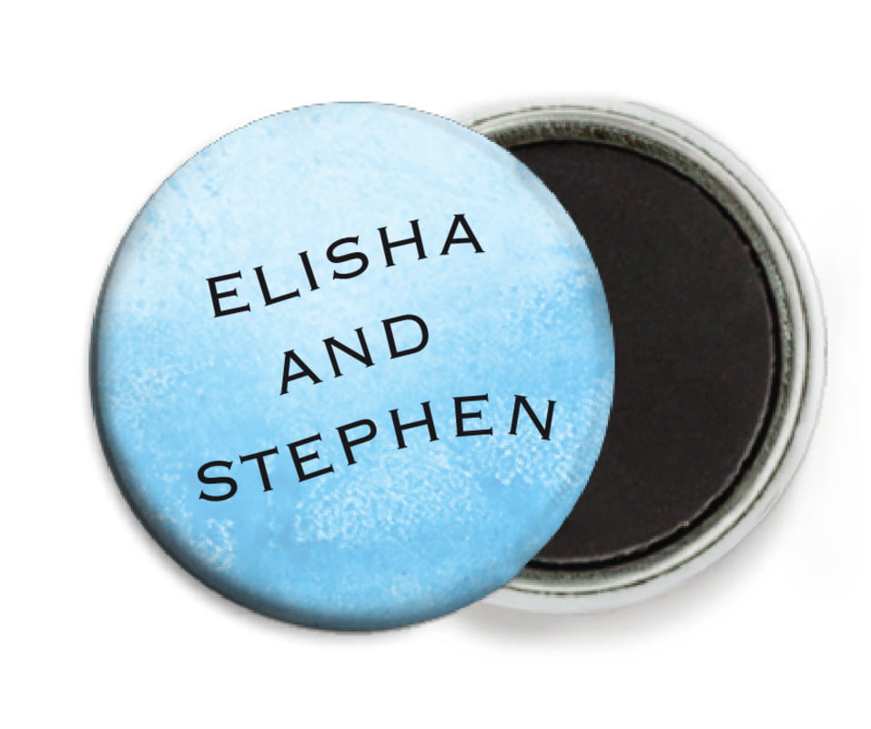 custom button magnets - sky - watercolor clouds (set of 6)
