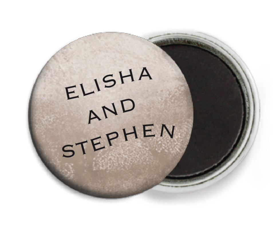 custom button magnets - warm grey - watercolor clouds (set of 6)