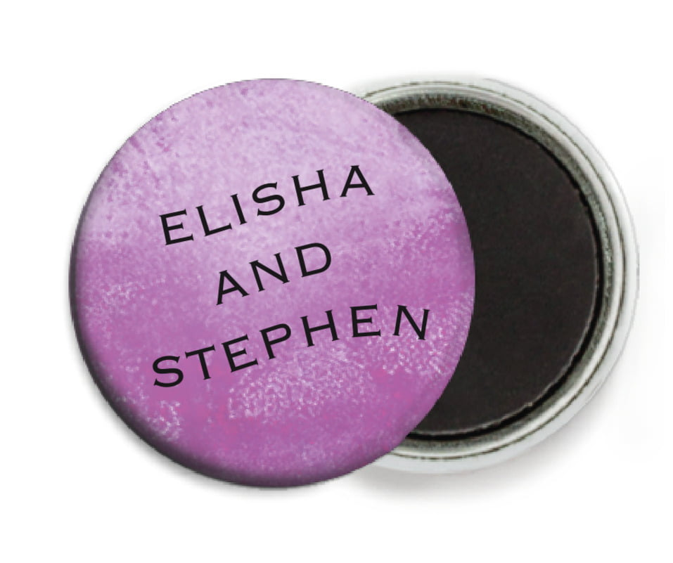custom button magnets - radiant orchid - watercolor clouds (set of 6)