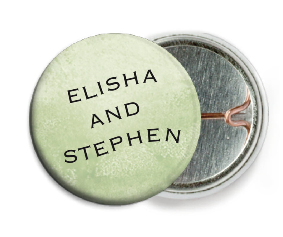 custom pin back buttons - green tea - watercolor clouds (set of 6)