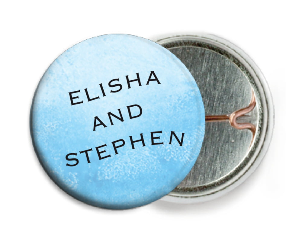 custom pin back buttons - sky - watercolor clouds (set of 6)