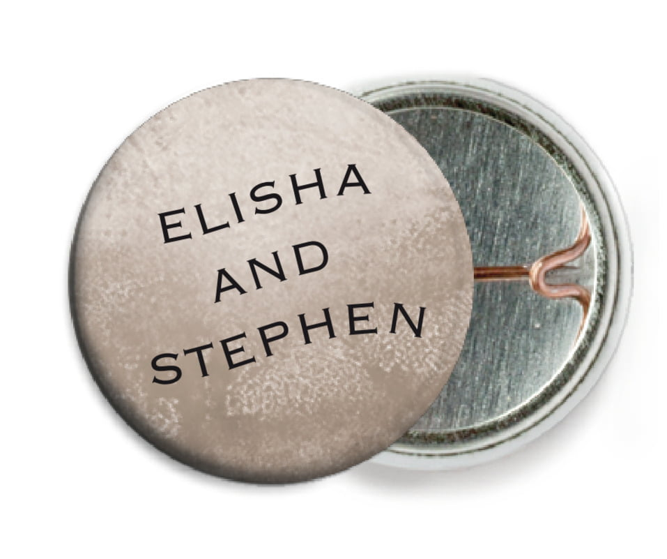 custom pin back buttons - warm grey - watercolor clouds (set of 6)