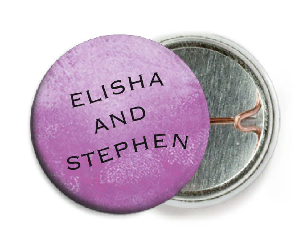 custom pin back buttons - radiant orchid - watercolor clouds (set of 6)