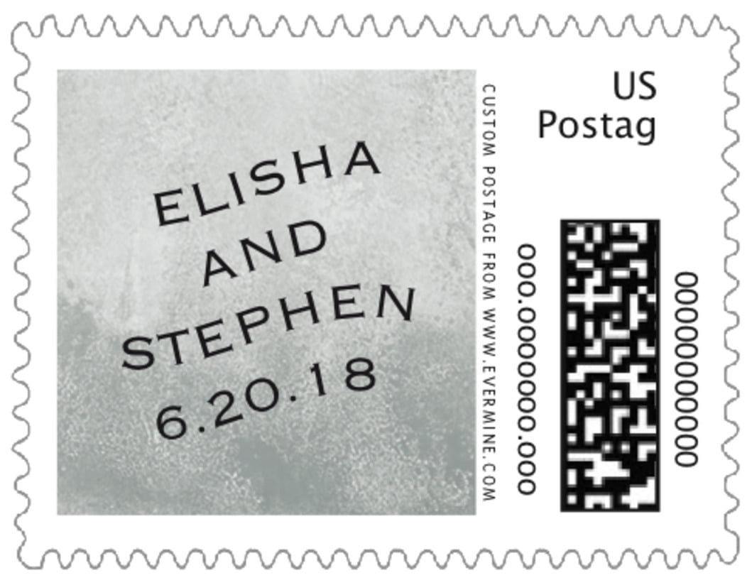 small custom postage stamps - charcoal - watercolor clouds (set of 20)