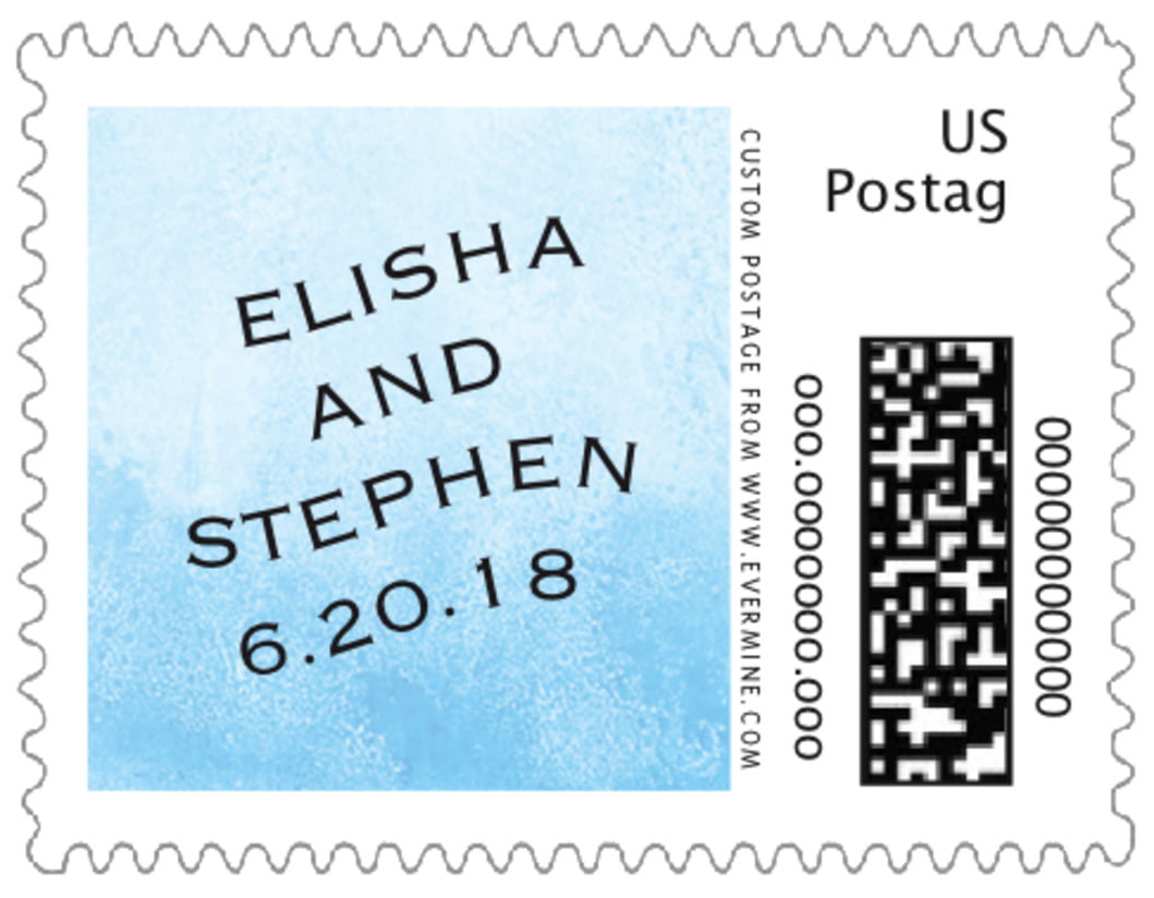 small custom postage stamps - sky - watercolor clouds (set of 20)
