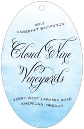 Watercolor Clouds large oval hang tags
