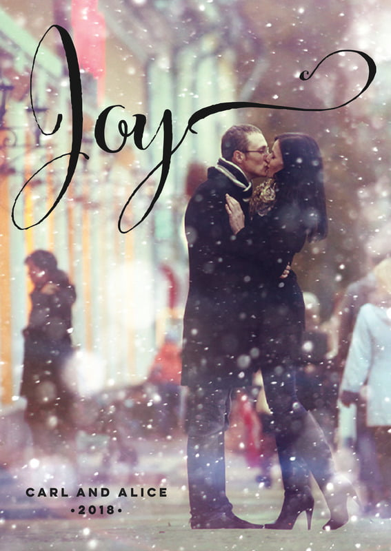 holiday cards - champagne - winter joy (set of 10)