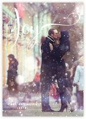 Winter Joy photo cards - vertical