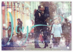 Winter Joy photo cards - horizontal