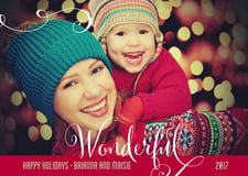 holiday cards - deep red - wonderful holiday (set of 10)