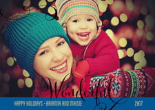 holiday cards - deep blue - wonderful holiday (set of 10)