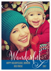 Wonderful Holiday photo cards - vertical