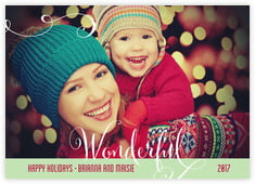Wonderful Holiday photo cards - horizontal