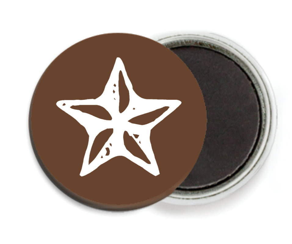 Custom Button Magnets - Chocolate - Elements Icon