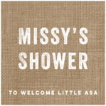 Elements Burlap Square Label In Burlap Basic