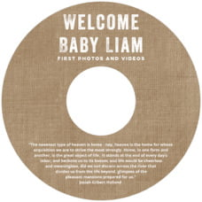 Elements Burlap Cd Label In Burlap Basic