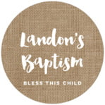 Elements Burlap Circle Label In Burlap Basic