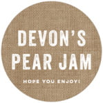 Elements Burlap circle labels