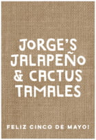 Elements Burlap tall rectangle labels