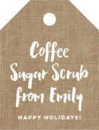 Elements Burlap small luggage tags