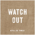 Elements Burlap square labels