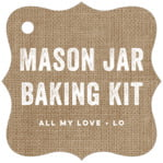 Elements Burlap fancy square tags