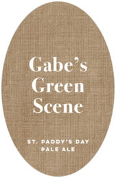 Elements Burlap tall oval labels