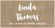 Elements Burlap rectangle labels
