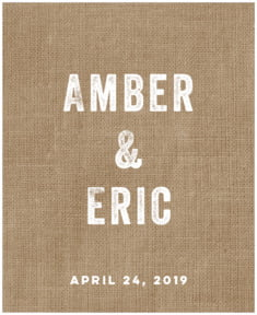 Elements Burlap large labels