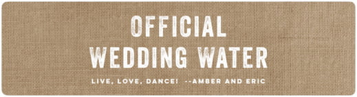 Elements Burlap bottled water labels