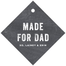 Elements Chalkboard Diamond Hang Tag In Chalkboard Tuxedo