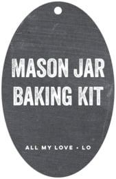 Elements Chalkboard large oval hang tags