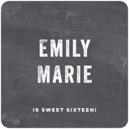 Elements Chalkboard square coasters
