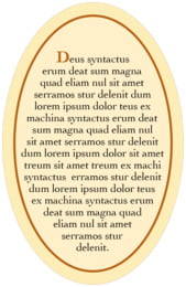 Xenith oval text labels
