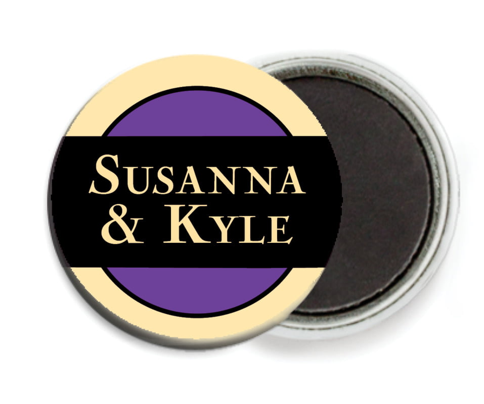 custom button magnets - purple - xenith (set of 6)
