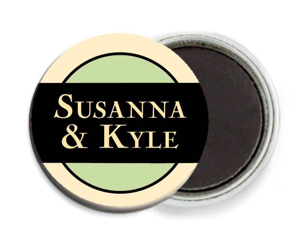 custom button magnets - lime & gold - xenith (set of 6)