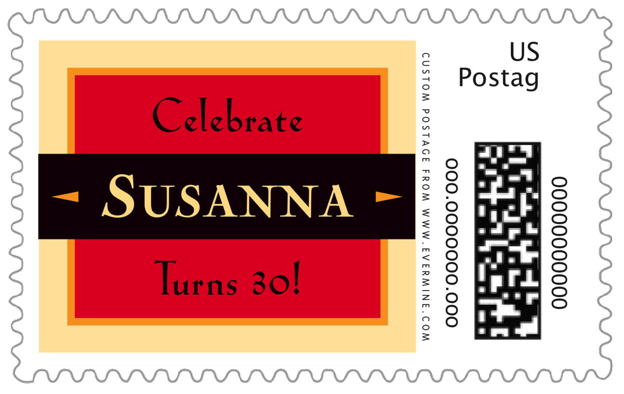 custom large postage stamps - cherry - xenith (set of 20)
