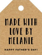 Elements Kraft Small Luggage Tag In Kraft Basic