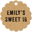 Elements Kraft Scallop Hang Tag In Kraft Basic