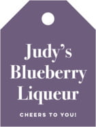 Elements Small Luggage Tag In Plum