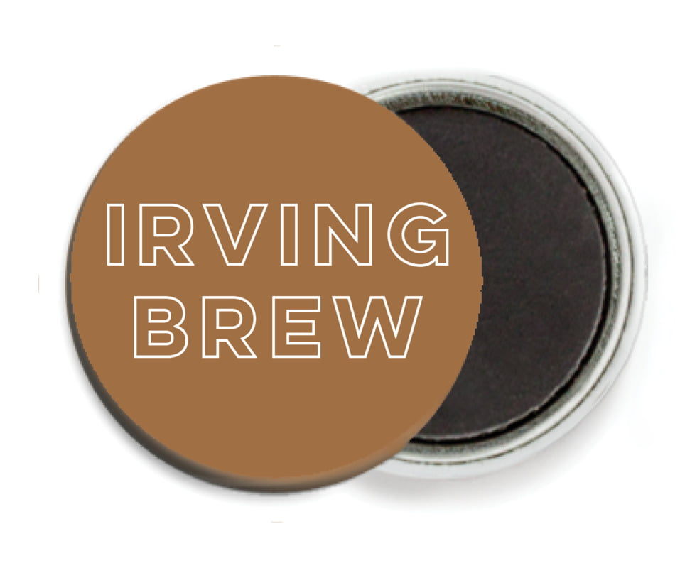 custom button magnets - saddle brown - aurora (set of 6)