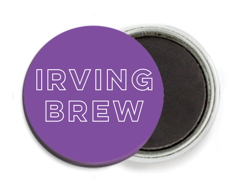 custom button magnets - purple - aurora (set of 6)