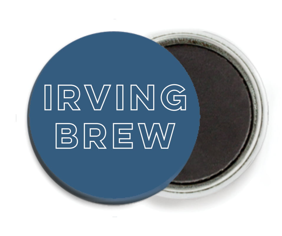 custom button magnets - navy - aurora (set of 6)